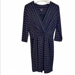 🍍 ECI N.Y. Metallic Striped Dress